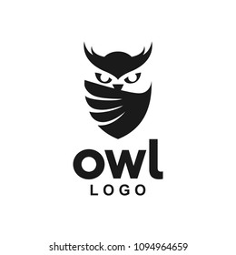 Owl Logo icon shield wing creative Modern Design