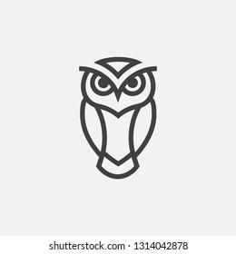 owl logo, owl line art