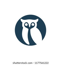owl logo in negative space style