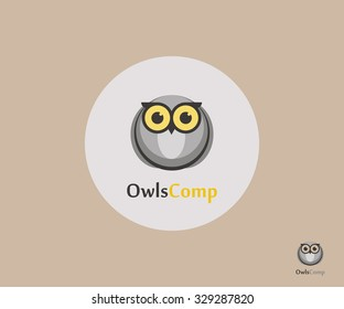 Owl Logo. Owl Logo sing, Owl Logo vector concept. Owl Logo for learning ,education. Owl Logo isolated vector concept . Owl Logo Owl Logo emblem in geometric hipster style. Owl Logo - stock vector.
