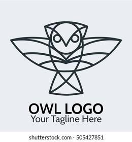 owl logo template