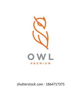 Owl logo template premium vector