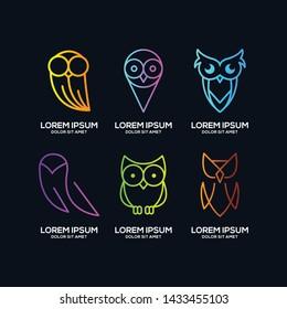 owl logo template vector eps 10