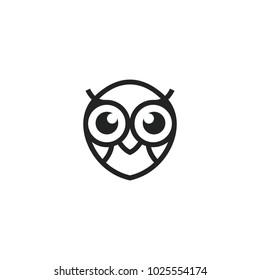 owl logo vector graphic minimalist outline art