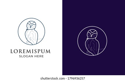 Owl logo - vector illustration. wise hand drawn sitting wise owl, owl head closeup set.animal geek logo ,owl wings silhouette,geometric abstract owl,marine animals low poly,owl flying logo line art 2