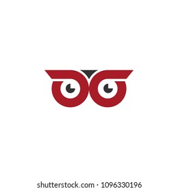 Owl logo vector simple graphic design. vector icons.
