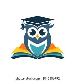 Owl Logo Vector Template Stock Vector