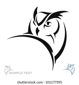 Owl portrait - vector