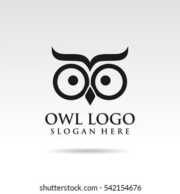 owl simple logo template design.