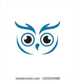Owl simple logo vector illustration template design.