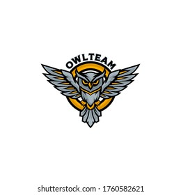 Owl Sports Gaming Team Club Logo vector Template