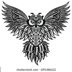 d935d2783 Owl Tattoo Images, Stock Photos & Vectors | Shutterstock