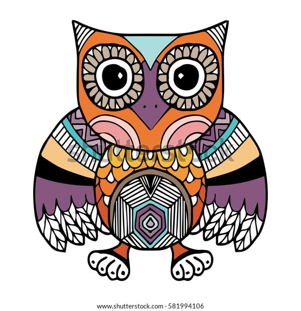 Owl Vector, Doodle, Freehand Vector