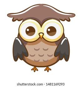 Owl vector graphic clipart design