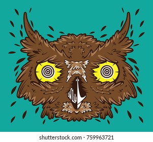 owl vector line graphic
