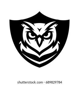 Owl - Vector logo / icon mascot illustration