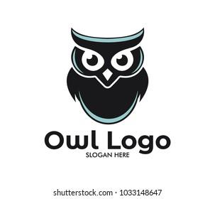 owl wisdom vector logo design template