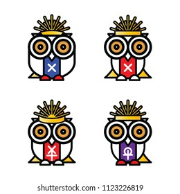 owls, cartoon, art, vector,