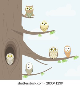 Owl Tree High Res Stock Images Shutterstock Various formats from 240p to 720p hd (or even 1080p). https www shutterstock com image vector owls on tree 283041239