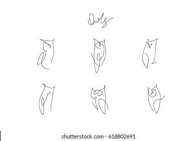 owls one line