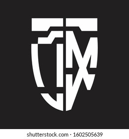 OX Abstract logo monogram with emblem style isolated on black background