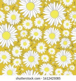 Ox Eye Daisies Yellows Everywhere