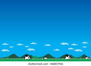 oxen farm background