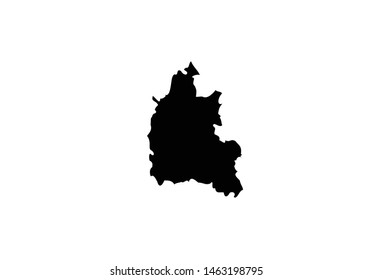 Oxford County outline map England region United Kingdom state country