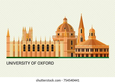 Oxford University. Vector Illustration.