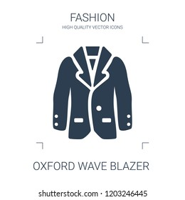 oxford wave blazer icon. high quality filled oxford wave blazer icon on white background. from fashion collection flat trendy vector oxford wave blazer symbol. use for web and mobile