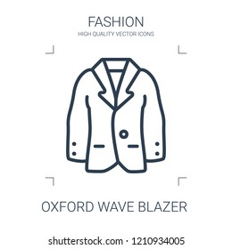 oxford wave blazer icon. high quality line oxford wave blazer icon on white background. from fashion collection flat trendy vector oxford wave blazer symbol. use for web and mobile