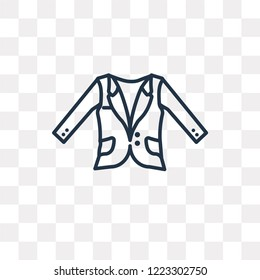 Oxford Wave Blazer vector outline icon isolated on transparent background, high quality linear Oxford Wave Blazer transparency concept can be used web and mobile