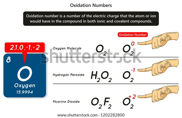 Oxidation Numbers Infographic Diagram Example Oxygen Stock ... on
