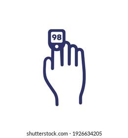 oximeter icon, oxygen saturation control