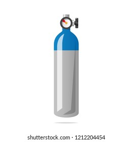 Oxygen cylinder tank vector isolated