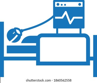 oxygen mask and man icon. cpap icon vector (blue version)