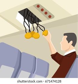 oxygen masker on plane