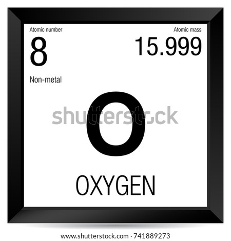 Oxygen Symbol Element Number 8 Periodic Stock Vector Royalty Free