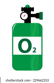 Oxygen Tank Illustration in vector and jpg