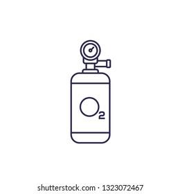 oxygen tank vector line icon
