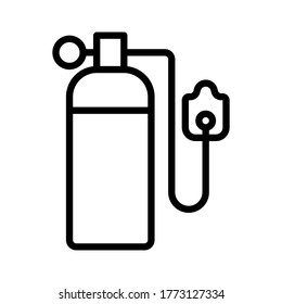Oxygen tube icon outline vector