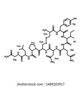 Oxytocin chemical formula, hormone of love
