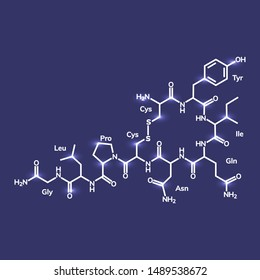 Oxytocin chemical formula, hormone of love and closeness