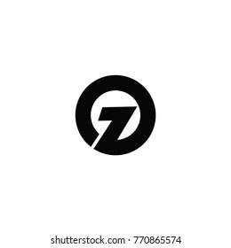 oz letter logo vector