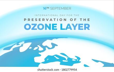 Ozone Layer Preservation International Day Background Illustration