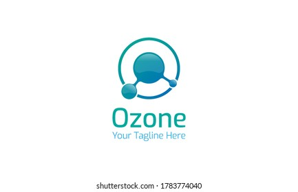 Ozone logo that combines the ozone symbol and the letter O with a color gradation between blue and tosca.