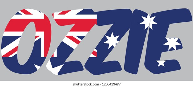 Ozzie is Australian slang for an Australian