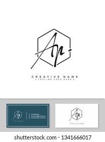 A P AP initial logo signature template vector. Handwriting concept logo.