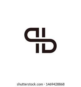 P B letter logo design