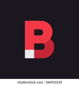 P B Letter Logo icon design template elements. Graphic Alphabet Symbol for Corporate Business Identity. Creative Typographic Concept Icon